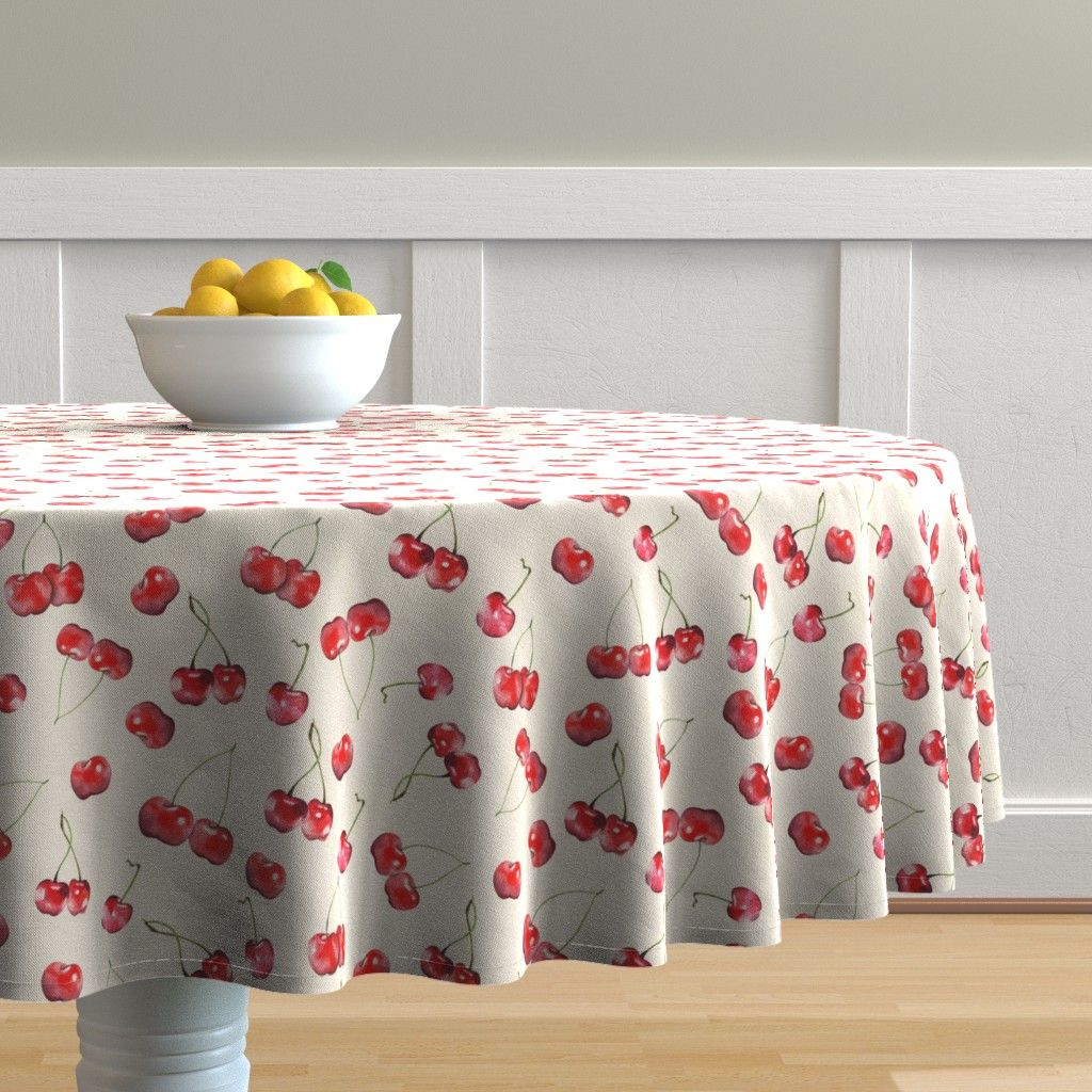 Cherry pattern tablecloth by timone