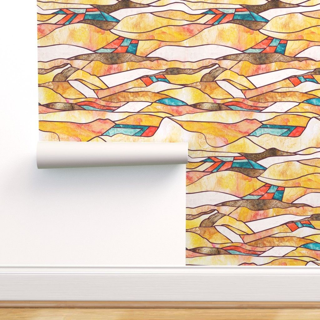 Monegros landscape pattern wall paper by timone