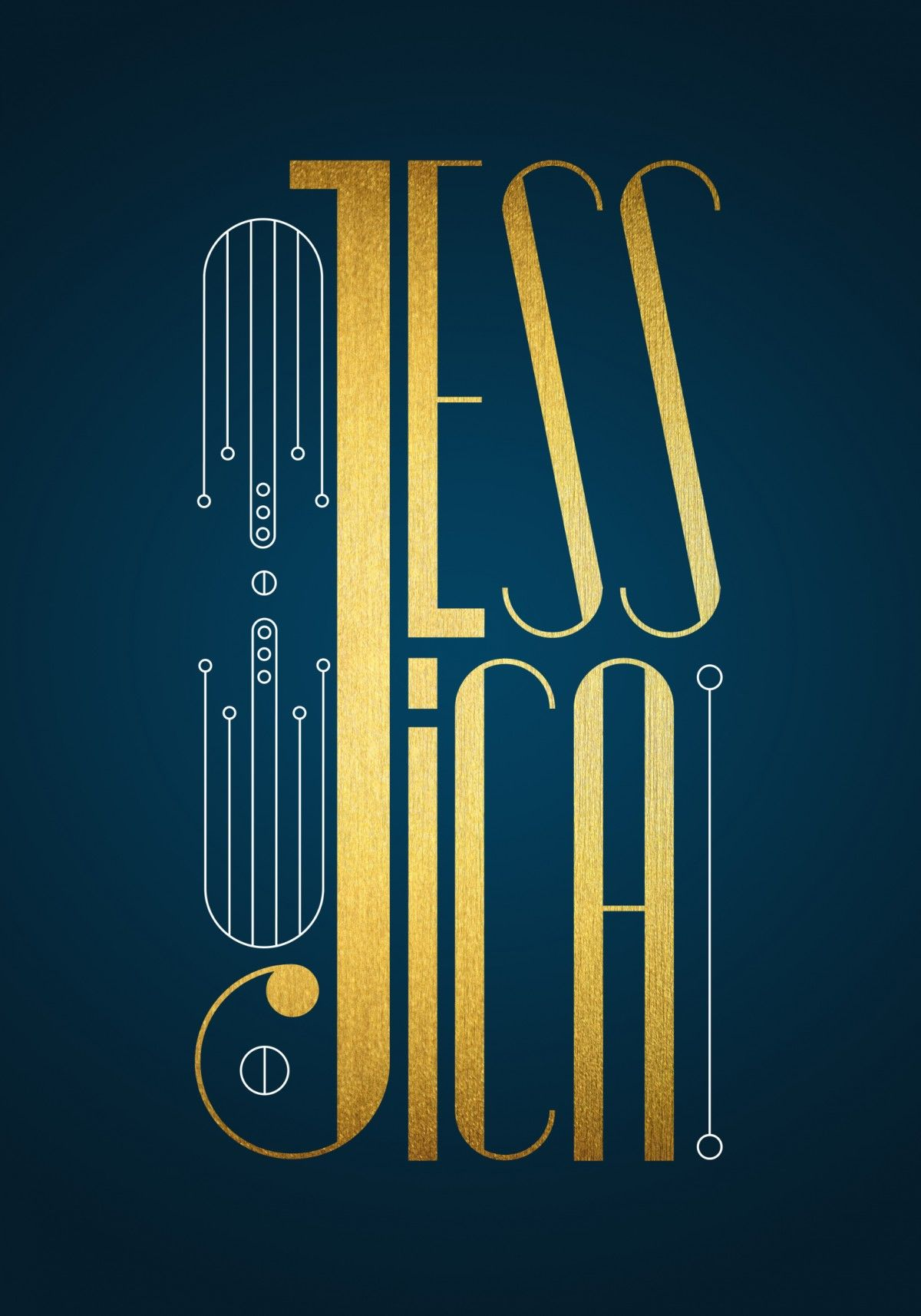 Jessica lettering by timone