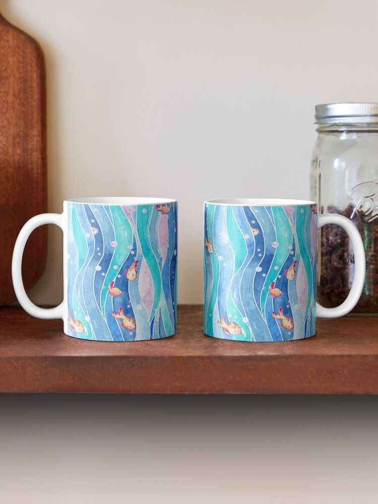 Down by the water pattern on mugs by timone